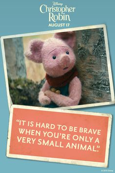 Piglet is a petite, fearful pig who is shy, soft-spoken and easily frightened. Winnie The Pooh Quotes, Winnie The Pooh Friends, Piglet Quotes, Super Funny, Funny Cute, Mantra, Disney Christopher Robin, Christopher Robin Quotes, Jean Christophe