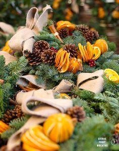 Citrus wreaths... LOVE the smell of winter! Check us out at www.hotdeals.com or on fb! Www.facebook.com/hotdealscom