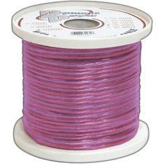 Pyle Rsw18500 18 Ga 500 Spool Car Audio Translucent Purple Speaker Wire by sa. $23.67. Description:RSW18500:Ζ Gauge 500 ft. Spool of High Quality Speaker Zip Wire