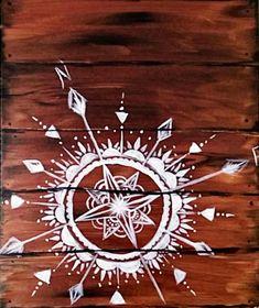 Mandala Compass - Paint Nite Painting