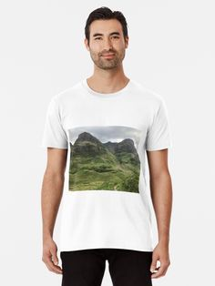 'Glencoe, the Highlands , Scotland' T-Shirt by David Rankin Famous Landmarks, Spring Collection, Large Prints, Tshirt Colors, Highlands Scotland, Glencoe Scotland, Looks Great, Classic T Shirts, Fitness Models