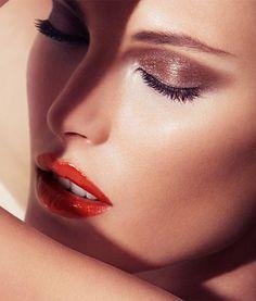Catherine McNeil for Giorgio Armani Beauty Spring/Summer 2013 Collections Giorgio Armani Beauty, Armani Makeup, Beauty Makeup, Hair Beauty, Glamour Makeup, Eye Makeup, Hair Makeup, Et Tattoo, Bronze Eyeshadow