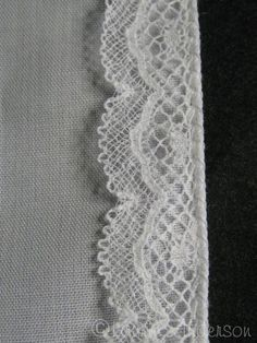 Applying Lace & Pin stitching}