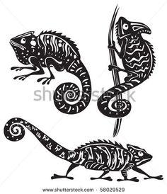 Black and white chameleon by Viktoria, via Shutterstock