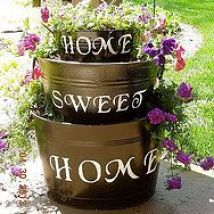Old Galvanized tubs I turned into a planter :: Hometalk