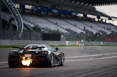 Koenigsegg CCXR Edition shooting flames like a boss