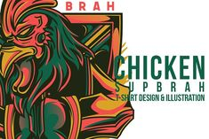 Chicken Sup Brah Illustration by badsyxn on @creativemarket  Cool T-Shirt Design Ready to Use.  #vector #editable #design #tshirt, #tees #cloth #clothingline #unique #awesome #cool #badass #nice #online #shop #brand #artwork #freelance #custom #apparel #product #bussiness #community #chicken #red #newyear #hits #tshirt #artwear #meaningful