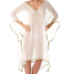 Elle & Cee's Gold Leaf Tunic is a masterpiece for beach covering up or merely floating around the house it.
