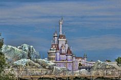 Belle's Castle in the New Fantasyland Magic Kingdom WDW