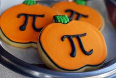 get it? pumpkin PI?!  pumpkin pie for your favorite math nerd, or anyone who prefers cookies to pie. ::: Pumpkin Pi cookies ;)