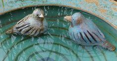 Keramikvögel handmodelliert und frostfest Keramikwerkstatt Baumgartner