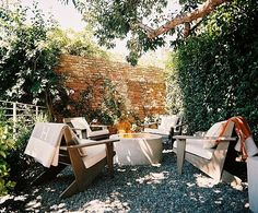 Love this outdoor area and fire pit.
