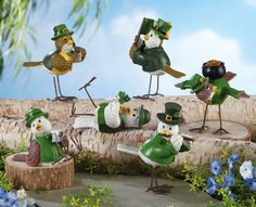 New St Patricks Day Irish Bird Collectible Sitters Home Decor St Patrick's Day Crafts, Crafts For Kids, Diy Crafts, St Paddys Day, St Patricks Day, St Pattys, Collections Ect, Happy St Patty's Day, Irish Decor