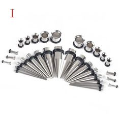36 PC Ear Gauge Expansion Acrylic Ear Canal Piercing Jewelry