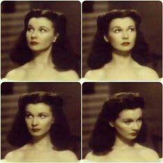 """#vivienleigh in the #gonewiththewind stills trying out her hair! #vivienleighsunday #leighsunday"""