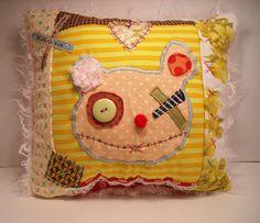Junker Jane CrazyDaisy Pillow by junkerjane, via Flickr