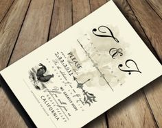 """PDF Print or 50+ Magnets Save the Date Announcements 4.33 X 5.59"""" Simple, Rustic"""