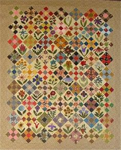 Moose Bay Muses: The Calico Garden Quilt Sampler Quilts, Scrappy Quilts, Wool Applique, Applique Quilts, Nine Patch Quilt, Primitive Gatherings, Lisa, Vintage Quilts, Quilt Making