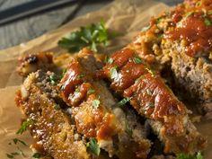 Pain de viande à la dinde de Bob le Chef Low Carb Meatloaf, How To Cook Meatloaf, Meatloaf Recipes, Whole Food Recipes, Diet Recipes, Cooking Recipes, Low Carb Ketchup, Edible Food, Pressure Cooker Recipes