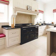 Neutral kitchen with black Aga | Decorating | housetohome.co.uk