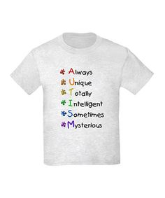 Austim Awareness Month! Ash Gray Autism Kids Tee - on #zulily today! Only 11.99