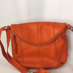 the SAK DEENA Burnt Orange Leather Flap Foldover Crossbody Shoulder Bag  #TheSak #MessengerCrossBody