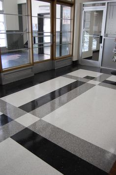 The Asheville Citizen-Times in Asheville, NC selected Fritztile to add a pop of low maintenance, high style terrazzo tile to their office lobby. It turned out great! So many creative possibilities with one square foot of Fritz… Foyer Flooring, Granite Flooring, Best Flooring, Floor Design, Tile Design, Terrazo Flooring, Model House Plan, Neoclassical Architecture, Terrazzo Tile