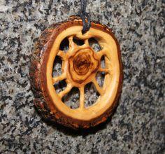 Olive Wood Pendant wood jewelry wood by OliveWoodJewellery on Etsy, $30.00