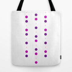 'pink chain' tote bag #pink,#purple,#circles,#design