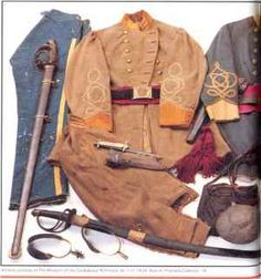 Cavalry Uniform and accouterments of Capt. W. H. Cleaver, Steele's Texas Regiment ~ Mine Creek Museum