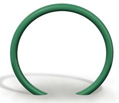 Model BRHS-101: Circular horseshoe bike rack constructed of 2-3/8 in (60mm) OD tubular steel pipe. Specify in-ground or surface mount.
