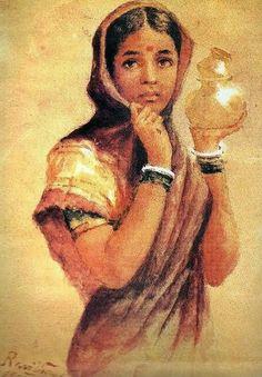 The Milkmaid ( Raja Ravi Varma Painting )