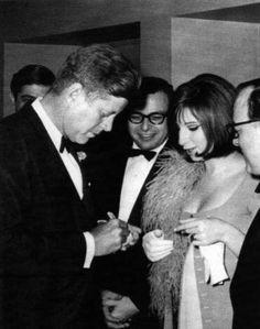 John F. Kennedy and Barbra Streisand   Rare and beautiful celebrity photos