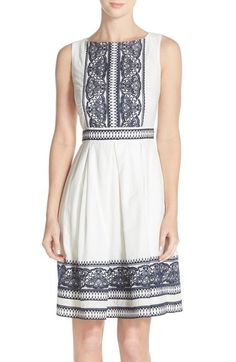 Taylor Dresses Embroidered Fit & Flare Dress available at #Nordstrom
