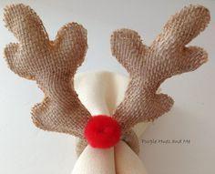 No Sew Deer Antlers Napkin Ring