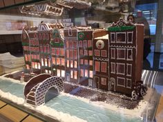 Canal houses made out of gingerbread!! At coffee place 'Roost' - Amsterdam East Side - Inoost.metmik.nl