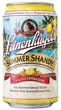 "Boasting ""an adventurous blend of select malted wheat and barley, lemonade flavor and a hint of Wisconsin honey,"" the Shandy isn't actually half bad. It's a refreshing, albeit gimmicky, summer time concoction that would be perfectly suited at any back yard picnic, the beach or on your nearest riding mower."
