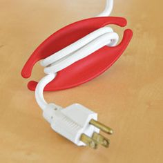 Declutter your cords with the Bobino Cord Wrap! Solutions.com #Clutter #Organization