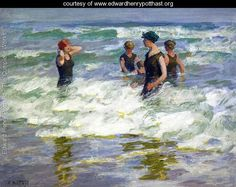 Bathers in the Surf I - Edward Henry Potthast - www.edwardhenrypotthast.org