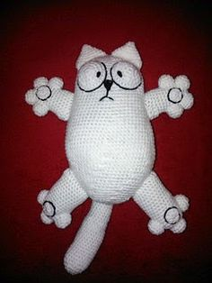 Simon's cat is a cartoon. The crochet pattern is freely available on Ravelry.
