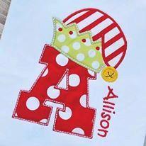 Personalized Elf Initial Christmas Shirt T-shirt - Sample Sale boys girls boutique monogram short long sleeve custom embroidered