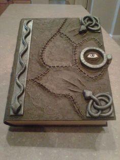 Impressive homemade evil spell book (modeled after of Hocus Pocus spell book).
