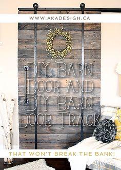 Do you love the look of barn doors but not the price tag? We've got a DIY Barn Door and DIY Barn Door Track tutorial - that won't break the bank!