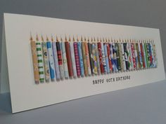 Large 40TH Birthday Candle Card Can be Personalised with a