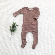 The 'Rosalie' baby girl outfit, mauve waffle knit outfit, footie pajamas, baby girl clothes, take home outfit - butt flap outfit over - baby things - Bebe Baby Girl Fashion, Toddler Fashion, Fashion Kids, Fashion Clothes, Style Clothes, Fashion 2016, Ladies Fashion, Fashion Purses, Clothes Sale