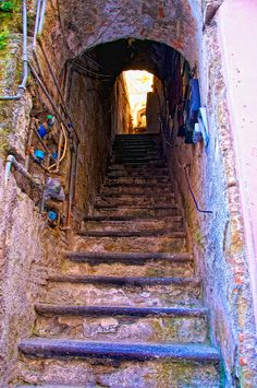 Stairs, Procida, Italy