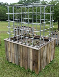 Picture of Build a Large Self Watering Garden & Greenhouse from Reused Materials