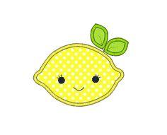 Lemon Applique Machine Embroidery Design-INSTANT DOWNLOAD
