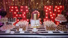 Old Hollywood Dessert Table - Riviera Palm Springs!