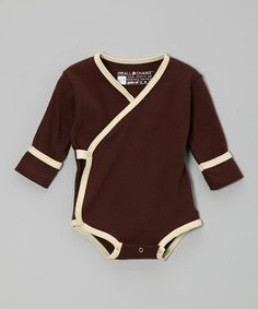 This Chocolate Organic Wrap Bodysuit - Infant is perfect! #zulilyfinds